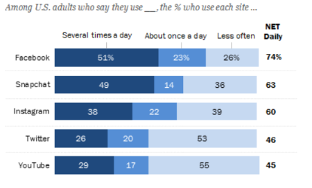 Pew Research Center Survey on Social Media (2018)